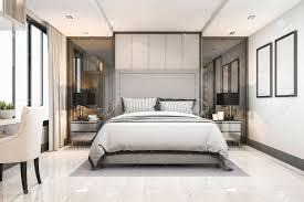 100 Modern Luxury Bedroom 3d Rendering White Modern Luxury Bedroom Suite In Hotel With