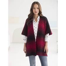 Free Pattern Lion Brand Scarfie Free Spirit Crochet Topper L50202