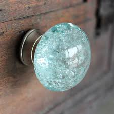 Real Seashell Cabinet Knobs by Glass Drawer Knob With Bubbles In Light Blue Glass Drawer Knobs