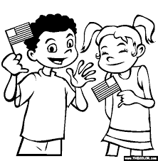 Waving Flags Coloring Page