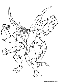 Ben 10 The Combined Changes Coloring Pages For Kids Printable