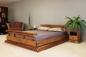 Our Exclusive Kondo Japanese Platform Bed Made From Solid Teak With A Blonde Finish