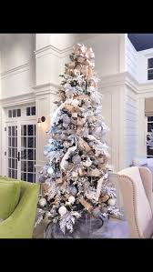 White Flocked Tree From Stage Of QVC A Lisa Robertson Christmas 2014