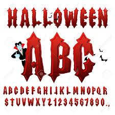 Halloween ABC Blood Gothic Letters Ancient Alphabet Vintage