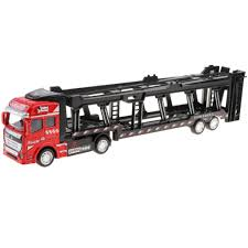100 Semi Truck Toy US 1286 47 OFFAlloy Die Cast Friction Powered 150 Scale Car Transporter Trailer No Batteries Requiredin Diecasts
