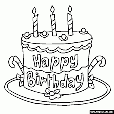Cake Decorating Books Free by Get This Free Birthday Cake Coloring Pages 4488