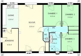 plan de maison de plain pied 3 chambres construction 86 fr plan maison ossature bois plain pied type 4