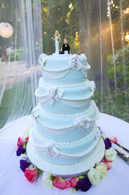 Wedding Cake with Blue And White Theme