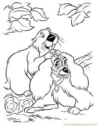 Lady And The Tramp Color Page Disney Coloring Pages Plate Sheetprintable Picture