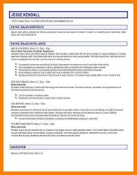 Resume Sample Sales Objective ResumeSales Job Career Sle Finance Lakewood Lodges Entry Level