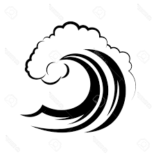 1300x1300 Best Ocean Wave White Background Stock Vector Image