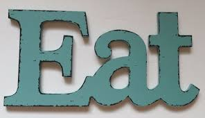 Eat Wall Decor Kitchen Dining Room Vintage Style Plaque Sign