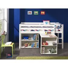 lit mezzanine bureau blanc pino lit mezzanine bureau bibliothèque blanc achat vente lit