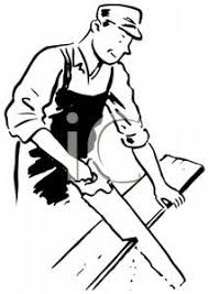Carpenter Clip Art Black And White Wood