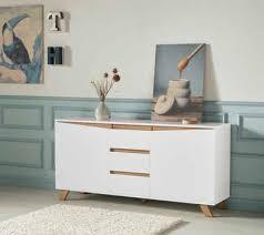 homexperts sideboard breite 160 cm oder 180 cm in matt weiß