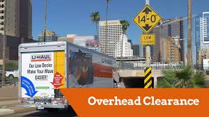 U-Haul 26' F650 Moving Truck: Overhead Clearance - YouTube