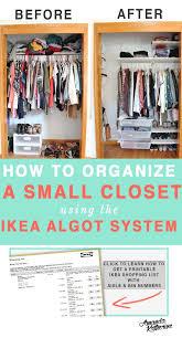 How To Organize Small Closets Best 25 Ideas On Pinterest Closet Design 16