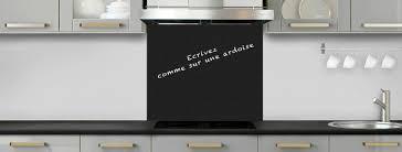 fond de cuisine crédence de cuisine noir mat effet ardoise c macredence com
