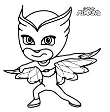 PJ Masks Owlette Coloring Pages