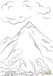 Click The Mountain Scene Coloring Pages