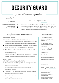 Security Guard Resume Sample & Writing Tips | Resume Genius Plain Ideas A Good Resume Format Charming Idea Examples Of 2017 Successful Sales Manager Samples For 2019 College Diagrams And Formats Corner Sample Medical Assistant Free 60 Arstic Templates Simple Professional Template Example Australia At Best 2018 50 How To Make Wwwautoalbuminfo You Can Download Quickly Novorsum Duynvadernl On The Web Great