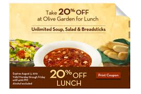 Olive Garden  off your total purchase Lunch offer