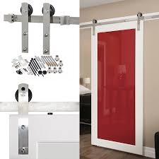 Shop 96-in Stainless Steel Interior Barn Door Roller Kit At Lowes ... Rolling Barn Doors Shop Stainless Glide 7875in Steel Interior Door Roller Kit Everbilt Sliding Hdware Tractor Supply National Decorative Small Ideas Sweet John Robinson House Decor Bypass Diy Tutorial Iu0027d Use Reclaimed Witherow Top Mount Inside Images Design Fniture Pocket Hinges Installation