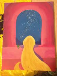 By Mariah Harper Tangled DIY Disney Canvas Painting Rapunzel Pascal May Be Purchased At My Etsy Shop