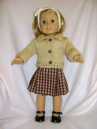 Doll Clothes HANDMADE Skirt Sweater Set Fits American Girl