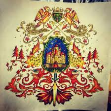 Coat Of Arms Castle Enchanted Forest Brasao Castelo Floresta Encantada Johanna Basford BookColoring