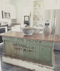 The Farmhouse 31 20 Kitchens Via A Blissful Nest Kitchen Island Diy RusticRustic