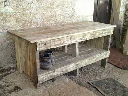 Diy Pallet Ultra Rustic Bench With Shoes Rack