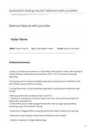 Automation Testing Resume: Selenium With Cucumber By Manish ...