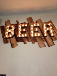 handmade sign vintage style metal letters light fixture 18