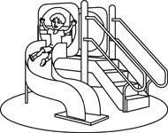 Playground Hanging Monkey Bars Outline Bar Size 51 Kb From School