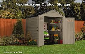 Rubbermaid Storage Shed 7x7 by Midland Hardware Helpful Tip U0027s