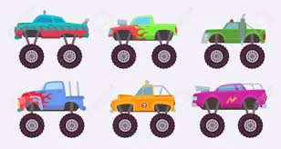 100 Big Truck Toys Stock Illustration