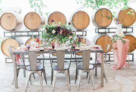 industriel farm cuisine los angeles ca industrial farm tables and seating ceremony reception event