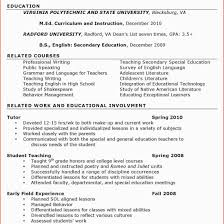 Early Childhood Education Resume Samples For Study At Ece Educator Sample