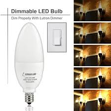 lohas candelabra bulb dimmable led 75watt light bulbs equivalent