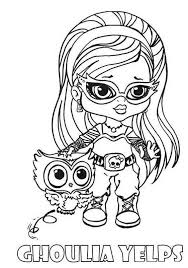 Ghoulia Yelps Little Girl Monster High Coloring Page