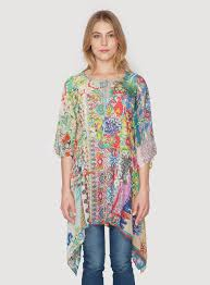 dreamy tie tunic multi tops johnny was