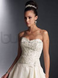taffeta ball gown wedding dress with beaded bodice sang maestro
