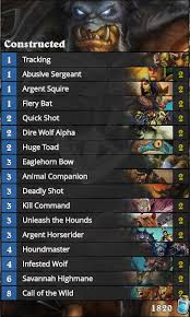 Hunter Decks Hearthstone 2017 by The Cheapest Decks In Hearthstone Esports Edition