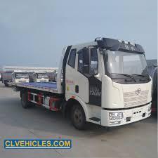 100 Used Tow Trucks Hot Item FAW 4X2 4ton 5ton Flatbed Platform Wrecker Ing Truck