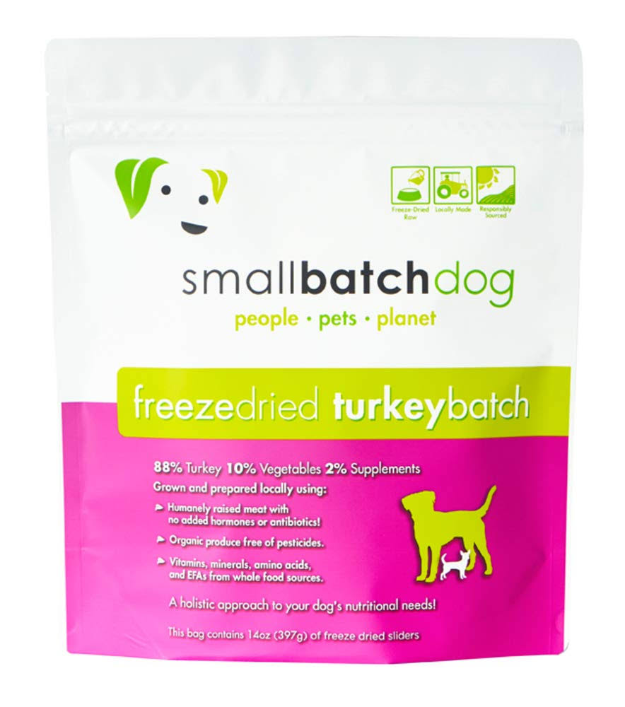 Smallbatch Turkey Sliders 14oz Freeze Dried Dog Food