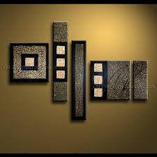 painted pentaptych modern abstract painting wall inner stretched