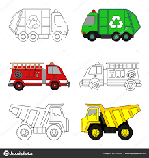 100 Garbage Trucks For Kids Coloring Page Truck Fire Truck Dump Truck Stock
