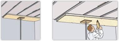 isolation d un plafond avec des panneaux composites de polystyrène