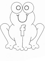 Learn Letter F For Preschool Kids Coloring Page